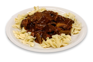Sirloin Tips over Noodles