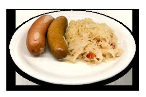 knockwurst-sauerkraut